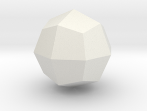 Great deltoid icositetrahedron in White Natural Versatile Plastic