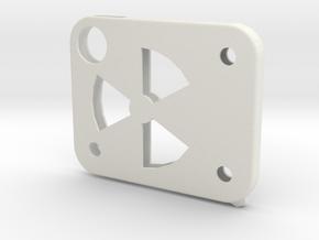 Flash Cover Atomic in White Natural Versatile Plastic