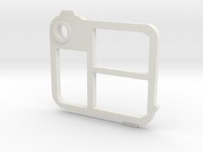 Flash Holder Mem Stick Pro Duo in White Natural Versatile Plastic
