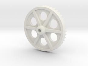 JDH-main_gear.stl in White Natural Versatile Plastic