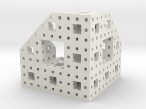 Menger Slice in White Natural Versatile Plastic