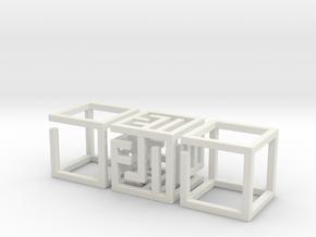 Really Big MazeNCubes in White Natural Versatile Plastic