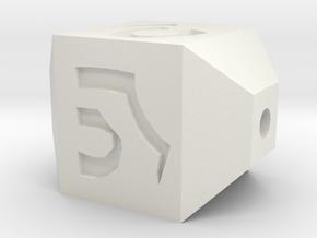Rune Bead in White Natural Versatile Plastic