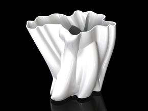 Vase 012 in White Natural Versatile Plastic