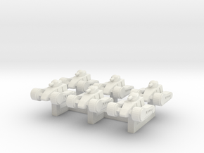 4 Light Tank x6 in White Natural Versatile Plastic