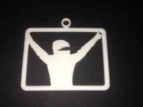 iRacing Keychain in White Natural Versatile Plastic