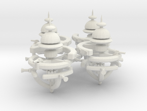 5 Small Defense Space Station 4x in White Strong & Flexible