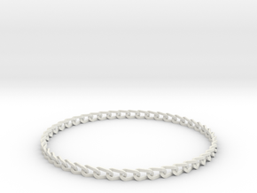 Bracelet Stainless in White Natural Versatile Plastic