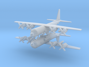 1/700 AC-130U Spooky II Gunship (x2) in Smooth Fine Detail Plastic