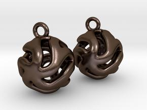 Starfish Kanga Earrings in Polished Bronze Steel