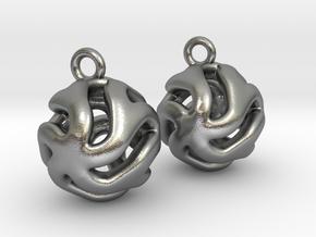 Starfish Kanga Earrings in Natural Silver