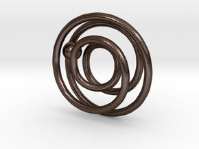 One ring to rule the ball in Polished Bronze Steel