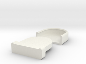 Rounded Box in White Natural Versatile Plastic