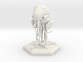 Space Jellyfish 28mm in White Strong & Flexible