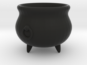 Large Cauldron, 28mm scale in Black Strong & Flexible