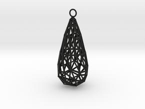 twisted teardrop lattice earring 1 in Black Strong & Flexible