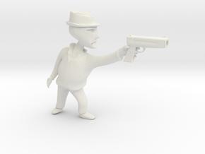 Gangster b in White Natural Versatile Plastic