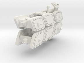 3 Mixed Set of 6 Armored Vehicles  in White Natural Versatile Plastic