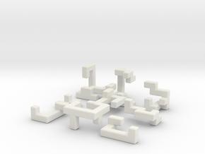 Switch Cube (3.5cm) in White Natural Versatile Plastic