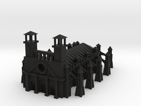 Gothic Style Cathedral in Black Strong & Flexible