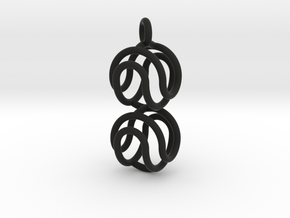Marble Pendant v2 in Black Strong & Flexible