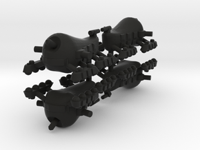 5 Allied Large Tank x4 in Black Strong & Flexible
