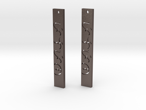 Earrings your way in Polished Bronzed Silver Steel