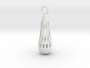 teardrop earring 1 in White Natural Versatile Plastic