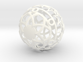 Christmasball in White Strong & Flexible Polished
