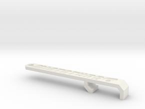 Miata Turbo Keychain - Design B - Sunken in White Natural Versatile Plastic