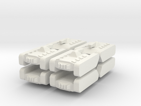 8 Tank x8 in White Natural Versatile Plastic