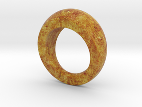 Chunky Round Wood Grain Ring (US size 7) in Full Color Sandstone