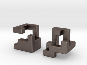 Insinuate puzzle in Polished Bronzed Silver Steel
