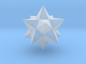 Small stellated dodecahedron in Smooth Fine Detail Plastic