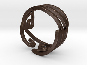 Elven Swirly Ring in Matte Bronze Steel