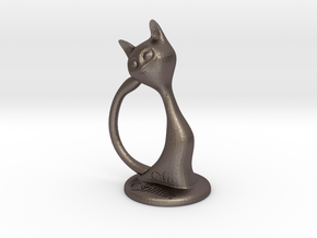 Napkin ring - Female cat in Stainless Steel