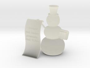 Snowman wishlist in Transparent Acrylic