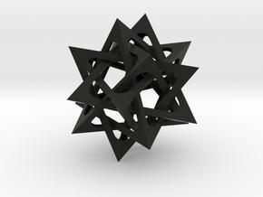 Five Tetrahedra in Black Natural Versatile Plastic