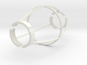 Finger Cuffs in White Natural Versatile Plastic