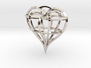 Heart of love in Platinum