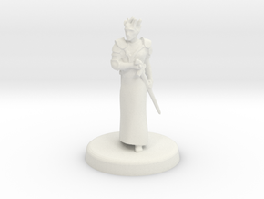 Fugue (Genasi swordmage) in White Natural Versatile Plastic