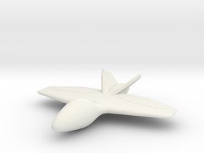 The Batwing in White Natural Versatile Plastic