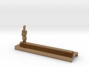 Porte Couteau Soldat 2 Xian in Natural Brass