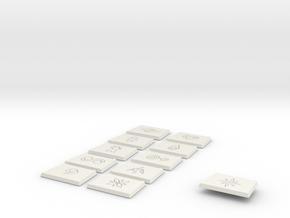 Crests no tag in White Natural Versatile Plastic
