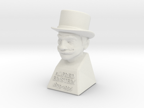 Alfred Einstein in White Natural Versatile Plastic