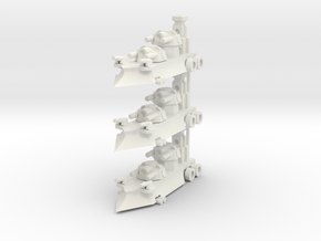 Gothic Artillery x3 in White Natural Versatile Plastic
