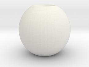 simple sphere in White Natural Versatile Plastic