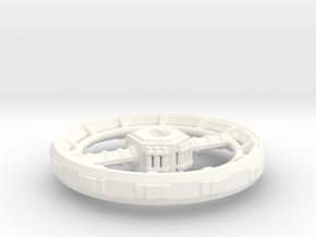 Orbital Ring City in White Strong & Flexible Polished