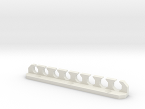 Toolholder for Wiha Hex Drivers in White Natural Versatile Plastic
