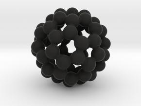 C60 - Buckyball - M in Black Strong & Flexible